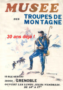 affiche des 30 ans du musée des troupes de montagne