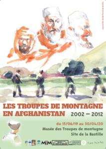 affiche de l'exposition sur les troupes de montagne en afghanistan
