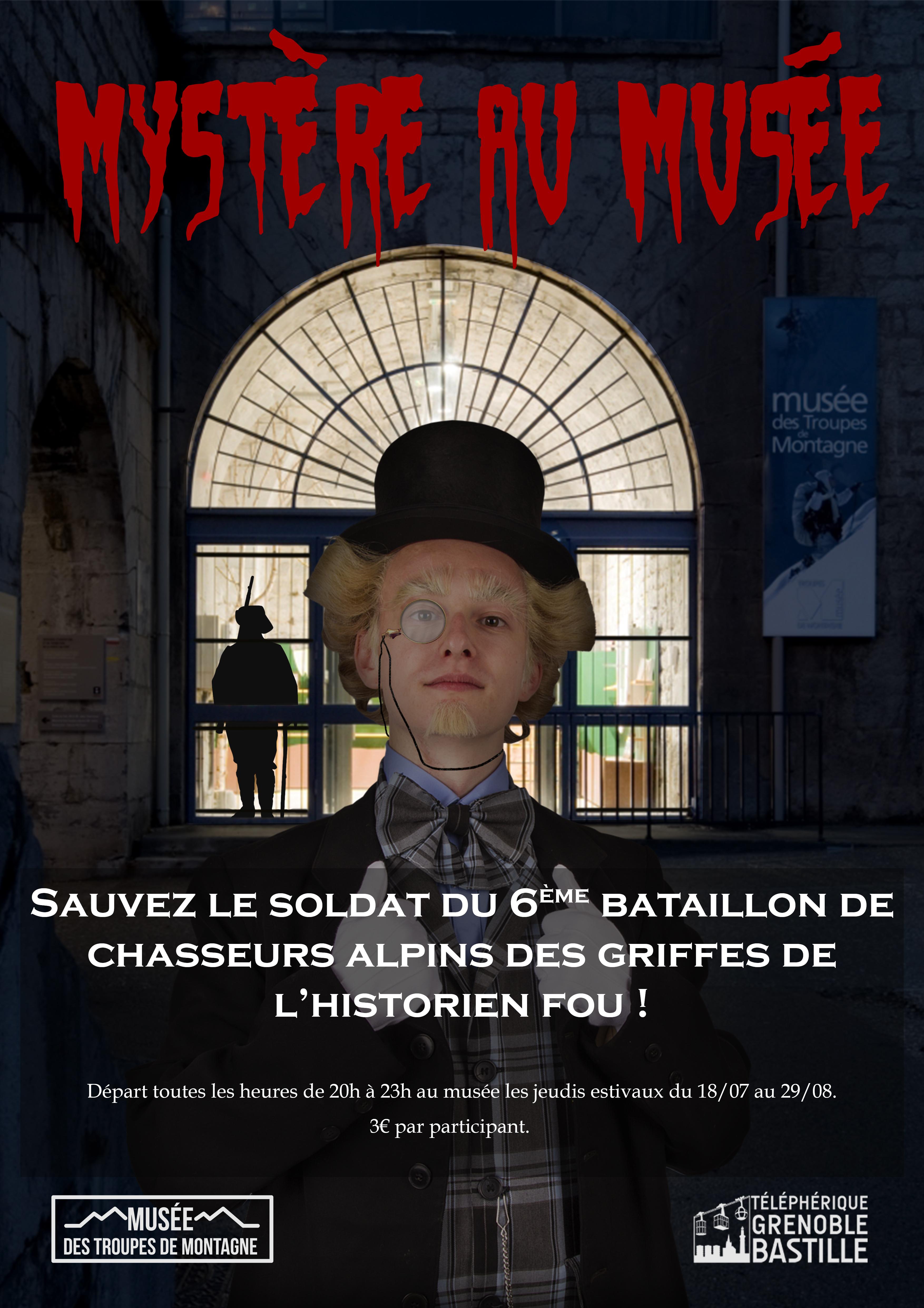 affiche de mystère au musée