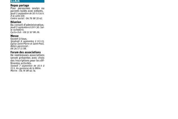 deuxième page revue de presse du dauphinée traitant du fort de comboire