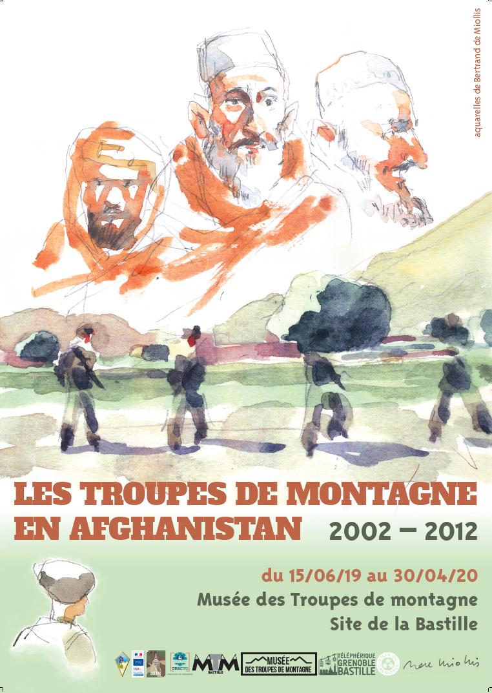 Affiche Les Troupes de Montagne en Afghanistan