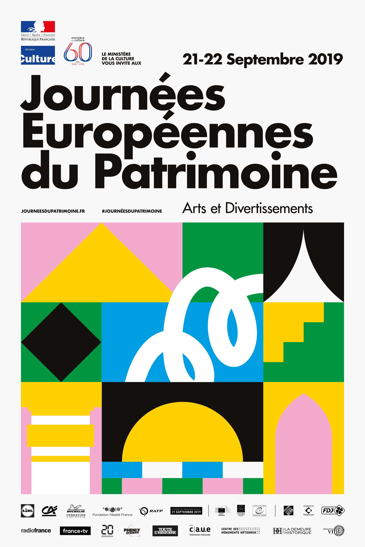 affiche national des journées européeenes du patrimoine 2019