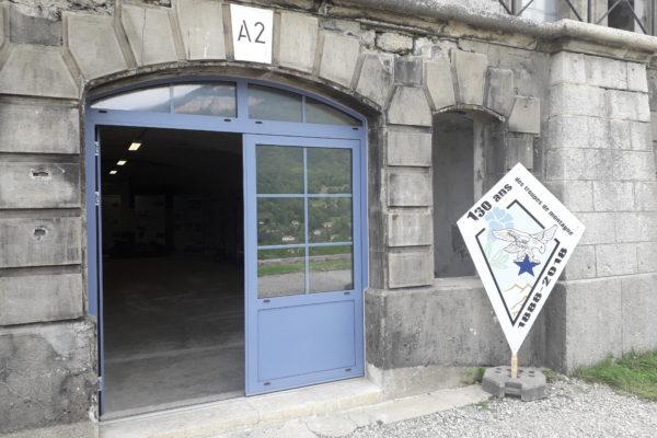 entrée de l'exposition au fort de comboire