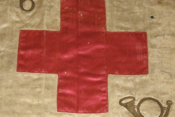 fanion croix rouge du 6e BCA