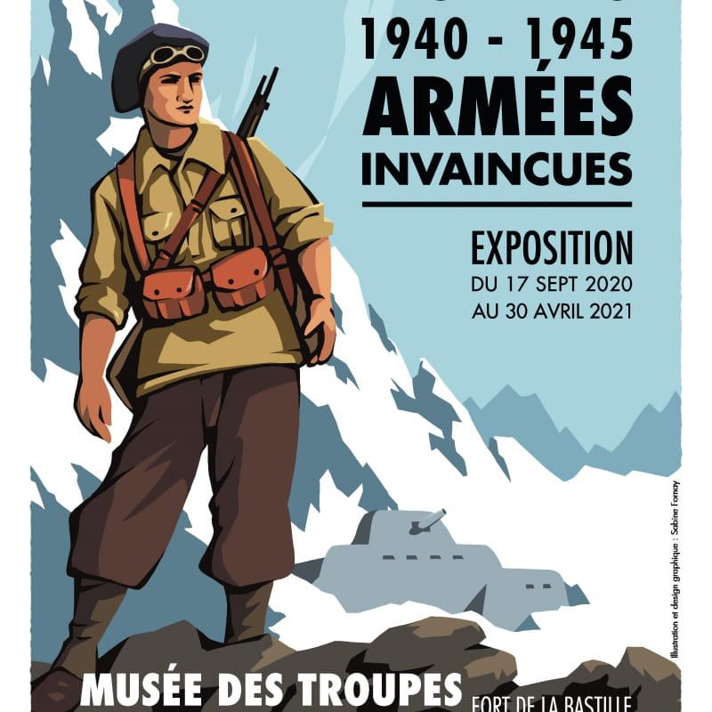 Affiche Armées des alpes, armées invaincues