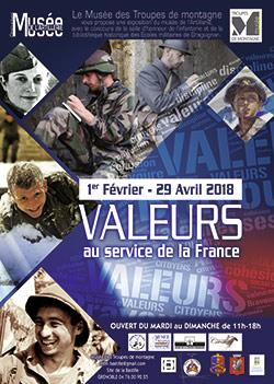 Affiche valeurs, au service de la France